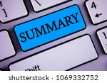 writing note showing  summary.... | Shutterstock . vector #1069332752