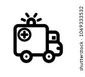 ambulance icon  vector... | Shutterstock .eps vector #1069333532