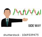 an investor is presenting side... | Shutterstock .eps vector #1069339475