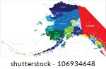 state of alaska map | Shutterstock .eps vector #106934648