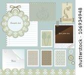 scrapbook elements. vector... | Shutterstock .eps vector #106934948