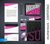 set of corporate identity...   Shutterstock .eps vector #106935362