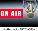 professional microphone on air | Shutterstock . vector #1069361006
