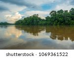 landscape of the amazon... | Shutterstock . vector #1069361522