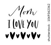 happy mother's day. cute simple ... | Shutterstock .eps vector #1069362362