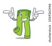 wink pants character cartoon... | Shutterstock .eps vector #1069362446