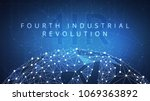 fourth industrial revolution on ... | Shutterstock . vector #1069363892