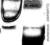 grunge halftone black and white ... | Shutterstock .eps vector #1069369772