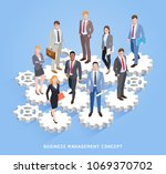 business teamwork management... | Shutterstock .eps vector #1069370702