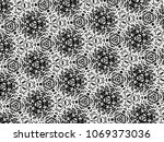 ornament with elements of black ... | Shutterstock . vector #1069373036