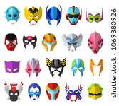 hero mask vector superhero... | Shutterstock .eps vector #1069380926