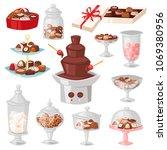 chocolate candy vector sweet...   Shutterstock .eps vector #1069380956