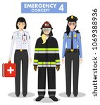 emergency concept. detailed... | Shutterstock .eps vector #1069388936