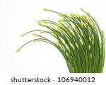 chinese chives flower on white... | Shutterstock . vector #106940012