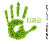 Green Leaves Hand . Eco...