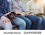 close up of christian group are ... | Shutterstock . vector #1069408088