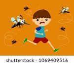 children running out of... | Shutterstock .eps vector #1069409516