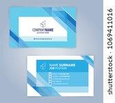 blue and white modern business... | Shutterstock .eps vector #1069411016