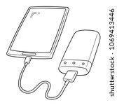 vector set of smartphone... | Shutterstock .eps vector #1069413446