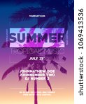 summer party poster template.... | Shutterstock .eps vector #1069413536