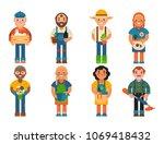 farmer character man... | Shutterstock .eps vector #1069418432