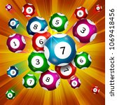 background of lottery balls ... | Shutterstock .eps vector #1069418456