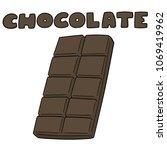 vector set of chocolate | Shutterstock .eps vector #1069419962