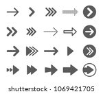 arrows vector collection with... | Shutterstock .eps vector #1069421705