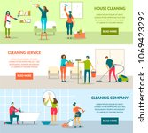 house cleaning people character ... | Shutterstock .eps vector #1069423292