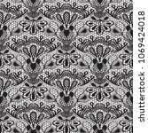 seamless detailed lace pattern... | Shutterstock .eps vector #1069424018