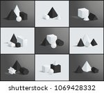 collection of various geometric ... | Shutterstock .eps vector #1069428332