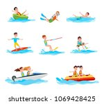 summer activity collection of... | Shutterstock .eps vector #1069428425