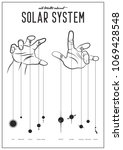 all truth about solar system....   Shutterstock .eps vector #1069428548
