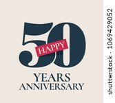 50 years anniversary vector... | Shutterstock .eps vector #1069429052
