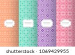 collection seamless pattern...   Shutterstock .eps vector #1069429955