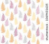 fern frond herbs  tropical... | Shutterstock .eps vector #1069431635