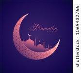 creative ramadan kareem islamic ...   Shutterstock .eps vector #1069432766