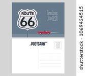 american route 66 vector... | Shutterstock .eps vector #1069434515