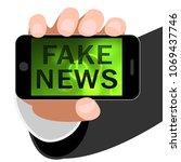 fake news smartphone alternate... | Shutterstock . vector #1069437746