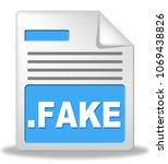 fake news computer document... | Shutterstock . vector #1069438826