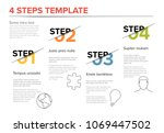 vector modern four steps... | Shutterstock .eps vector #1069447502