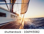 sailing into the sunset | Shutterstock . vector #106945082