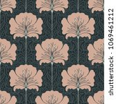 vintage seamless pattern with... | Shutterstock .eps vector #1069461212