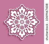 round lace doily  cutout paper... | Shutterstock .eps vector #1069467608