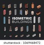 vector isometric hospital ... | Shutterstock .eps vector #1069468472