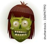 zombie face 03 | Shutterstock .eps vector #106947992