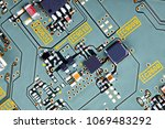 electronic circuit board close... | Shutterstock . vector #1069483292