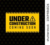 under construction design ... | Shutterstock .eps vector #1069486826