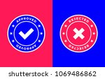 approved and rejected marks ... | Shutterstock .eps vector #1069486862