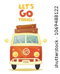 vector colorful cartoon poster. ... | Shutterstock .eps vector #1069488122